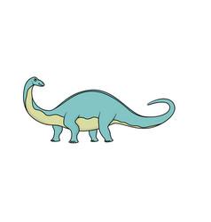 Cartoon brontosaurus isolated vector