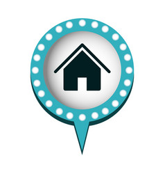 Chat bubble with house inside vector