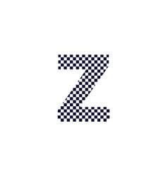 checker pattern logo letter z vector image