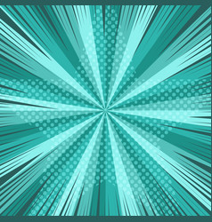 Comic book page turquoise template vector