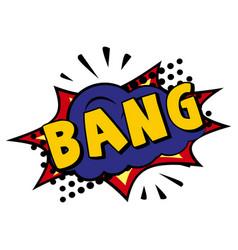 Comic lettering bamg on white background vector