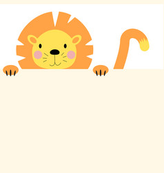 cute animal lion with empty place for text vector image