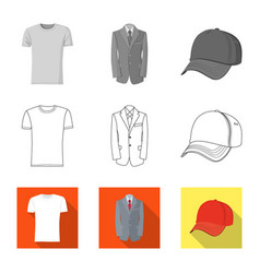 Design man and clothing sign collection vector