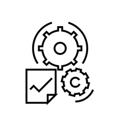 Different settings line icon concept sign vector