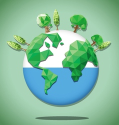 Earth green polygon vector