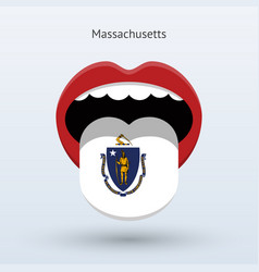 electoral vote of massachusetts abstract mouth vector image