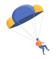 extreme parachuter icon cartoon style vector image