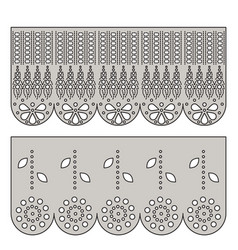 Eyelet lace decorative ornament for border of vector
