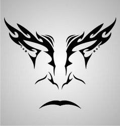 Face Tattoo Design vector image
