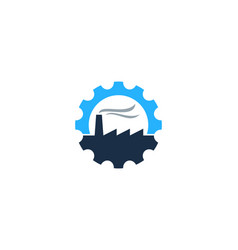 factory gear logo icon design vector image