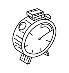 fast delivery icon doodle hand drawn or outline vector image