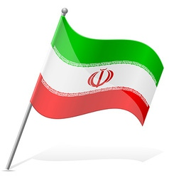 Flag of iran vector