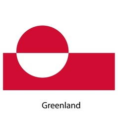 Flag of the country greenland vector