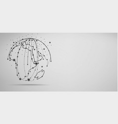 global network connection visualization vector image
