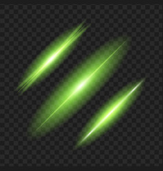 green glowing light effect isolated on black vector image
