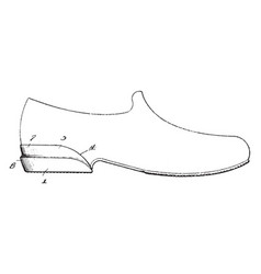 Heel of the shoe vintage engraving vector