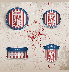 independence day realistic banners vector image