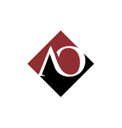 initial ao rhombus logo design vector image