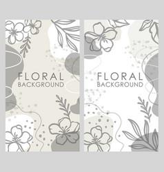 Instagram floral background monochrome backdrop vector