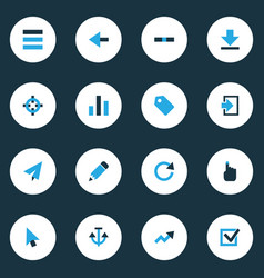Interface colorful icons set collection of vector