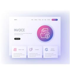 Invoice money flow payment market research vector