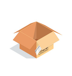 isometric box isolated on white background vector image
