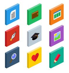 isometric web icons vector image
