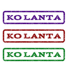 Ko lanta watermark stamp vector