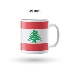 Lebanon flag souvenir mug on white background vector