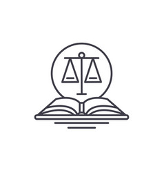 Legal code line icon concept legal code vector