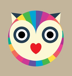 Love owl aura vector
