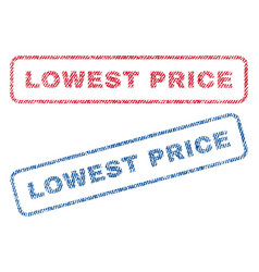 Lowest price textile stamps vector