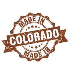 made in colorado round seal vector image