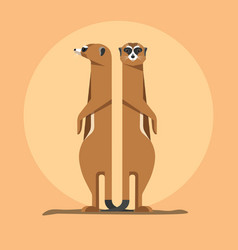 Meerkats are the children of the sun vector