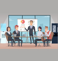 Meeting office interior business conference room vector