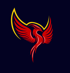 Modern mythical phoenix logo vector