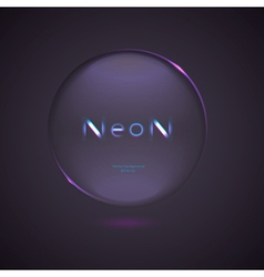 neon Logo design element on a dark background vector image