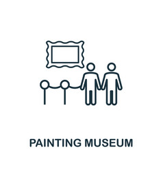 painting museum outline icon thin line concept vector image