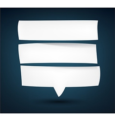 Paper white separated speech bubble vector image