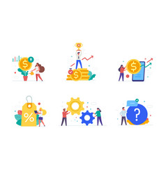 people use gadgets set icons vector image