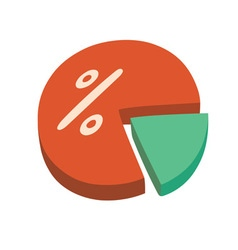 Percentage chart vector image