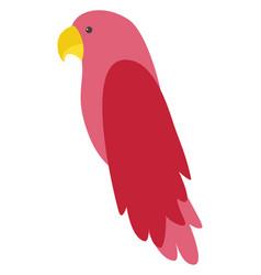 pink bird on white background vector image