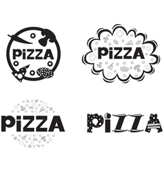 pizza logo set2 vector image