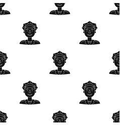 policeman icon in black style isolated on white vector image