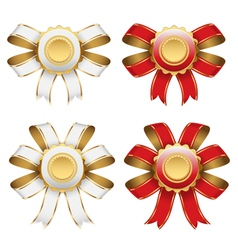 red and white bow vector image