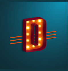 retro style letter d vector image