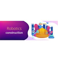 Robotics construction concept banner header vector