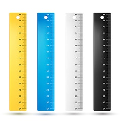 Rulers in centimeters vector