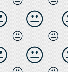 Sad face Sadness depression icon sign Seamless vector image