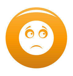 sad smile icon orange vector image